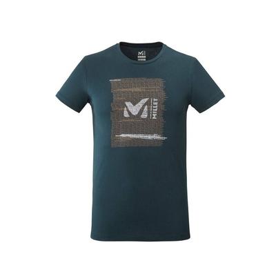 MILLET 男 RISE UP 有機棉短袖排汗T恤 靛藍-MIV77748737