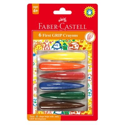 Faber-Castell 學齡可擦拭蠟筆 子彈6色