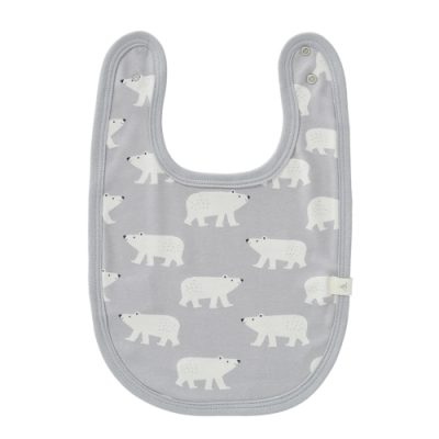 荷蘭 FRESK 有機棉嬰幼兒圍兜兜 (北極熊)