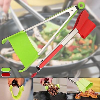 Ezlife 多功能不鏽鋼矽膠食物夾鏟