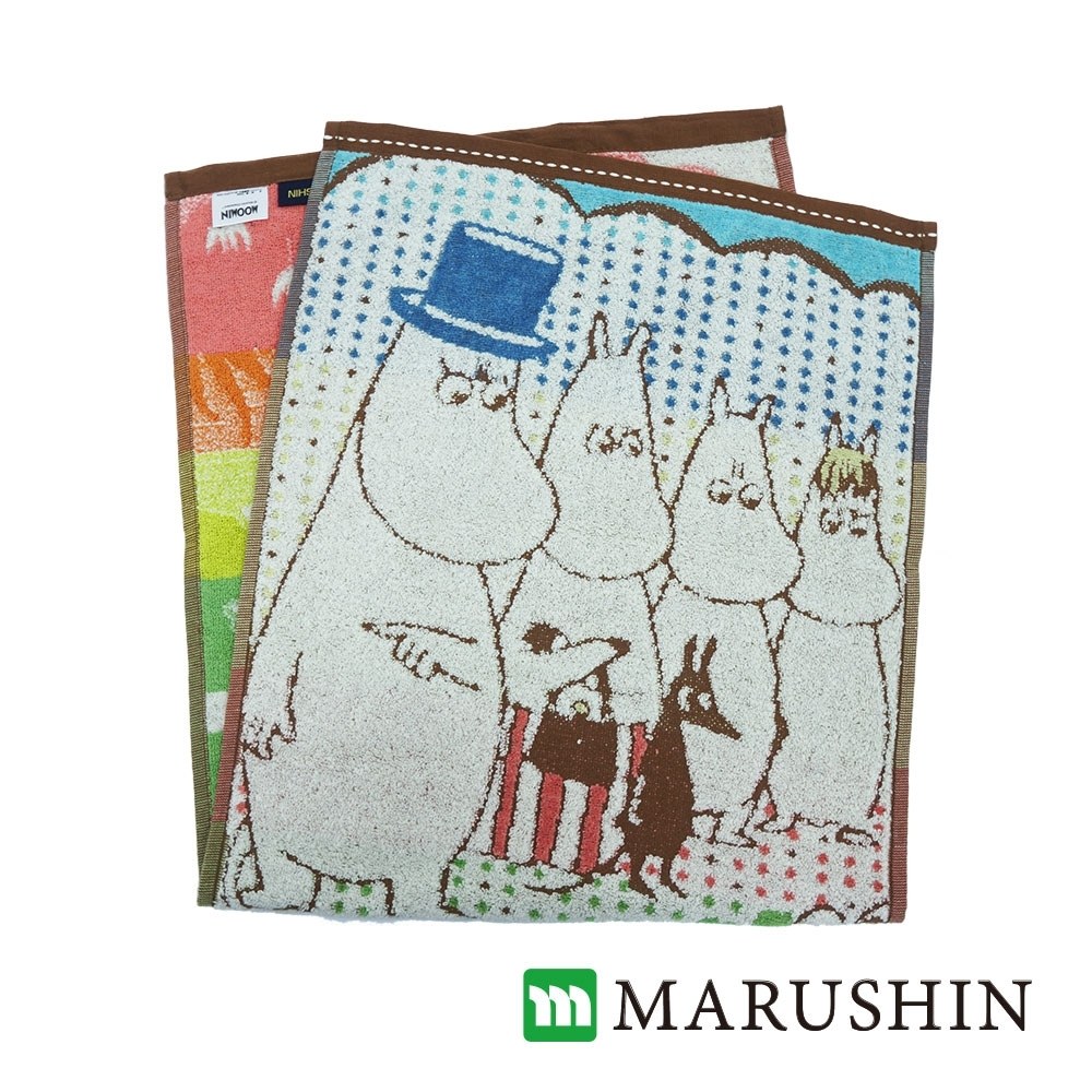 [獨家]日本丸真Moomin刺繡毛浴巾超值三件組-家庭(方巾+毛巾+浴巾)