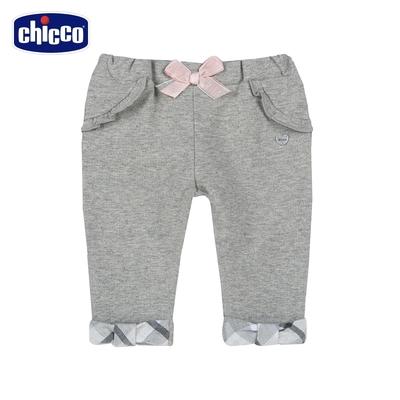 chicco-灰色浪漫-反摺彈性長褲
