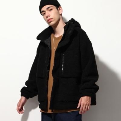 連帽外套寬版厚防寒刷毛外套(6色) -ZIP日本男裝