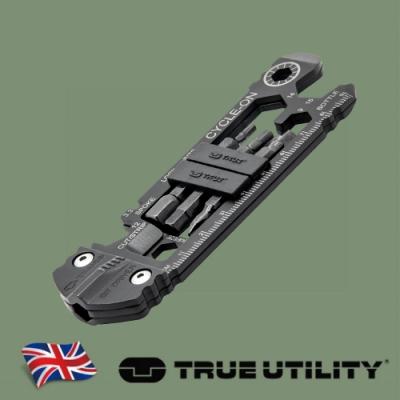 【TRUE UTILITY】 英國多功能30合1世界最輕薄腳踏車工具組Cycle-On