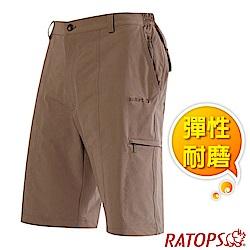 瑞多仕-RATOPS 男款 彈性快乾平織休閒短褲_DA3375 谷倉褐色