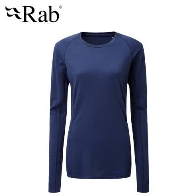 【英國 RAB】Forge LS Tee 長袖羊毛透氣排汗衣 女款 藍圖 #QBU86