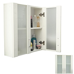 Abis 經典霧面雙門加深防水塑鋼浴櫃/置物櫃-白色(1入)