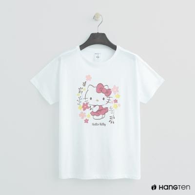 Hang Ten - 女裝 - Sanrio-圖樣造型短T - 白