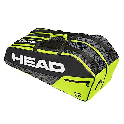 HEAD Core Combi 6支裝球拍袋-黑綠 283519