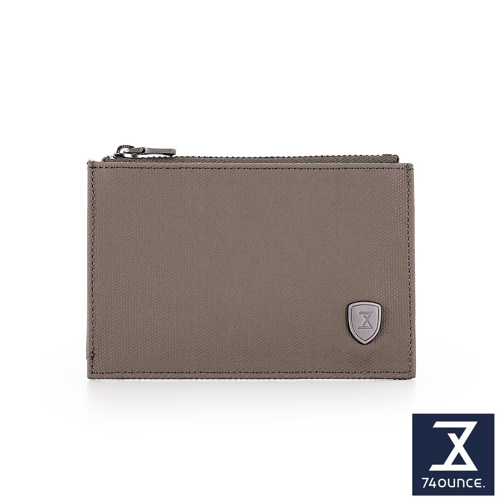 74盎司 皮夾 FIT 時尚薄型卡片零錢包[N-579-FI-M]軍綠