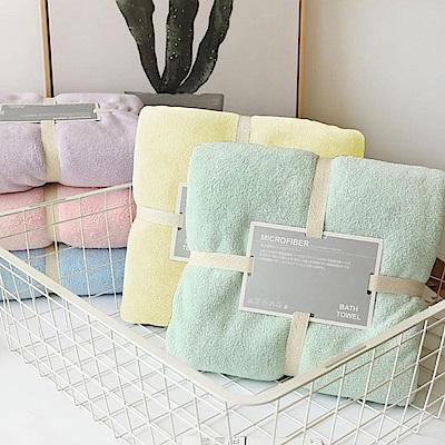 【Incare】超強吸力微米柔軟繽紛珊瑚絨浴巾+毛巾組 (5色)
