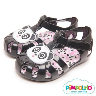 Pimpolho 可愛貓熊編織童鞋-黑色