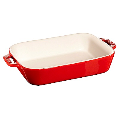 Staub 長形烤盤 烤皿 焗烤盤 20x16cm 櫻桃紅