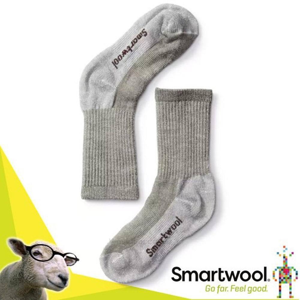 美國 SmartWool 美麗諾羊毛 孩童健行中級避震中長襪(2入)_灰褐色