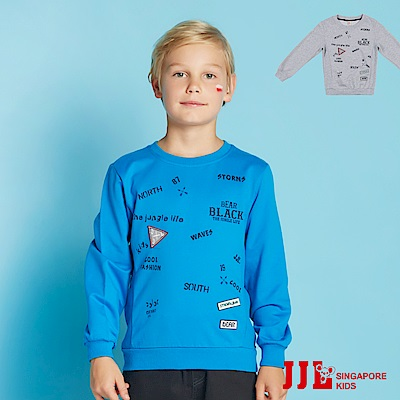 JJLKIDS 叢林探險文字棉質上衣(2色)