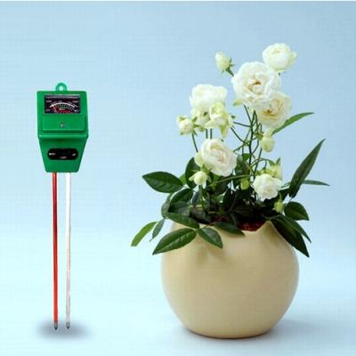 PUSH! 園藝用品土壤酸鹼度計/濕度計/照度計三合一土壤檢測儀 ph計 B31