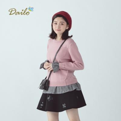 新降【Dailo】法式甜美波浪格紋-針織衫(三色)