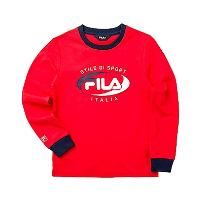 FILA KIDS 童長袖T恤-紅 1TET-8902-RD