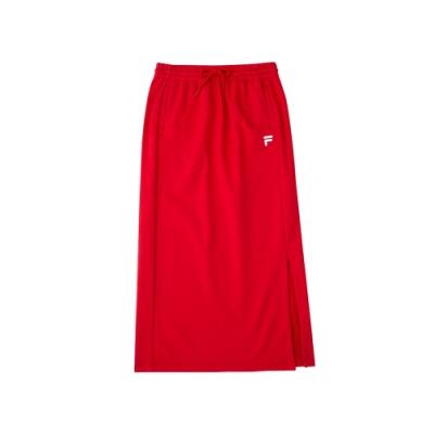 FILA 女針織長裙-紅色 5SKU-5479-RD
