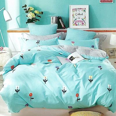 LAMINA 北歐小花 精梳棉四件式兩用被套床包組(雙人)