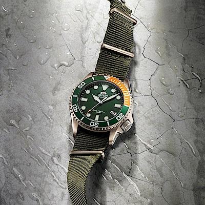 ORIENT 東方錶 WATER RESISTANT系列 200m潛水錶 鋼帶款 綠色 RA-AC0K04E - 43.4mm