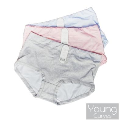 Young Curves 無痕煥彩色紗中高腰平口四角褲(3件組)-C04-200180