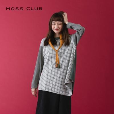 【MOSS CLUB】英倫風格紋長袖-上衣