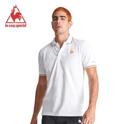 le coq sportif 法國公雞牌左胸公雞印花短袖POLO衫 男-白