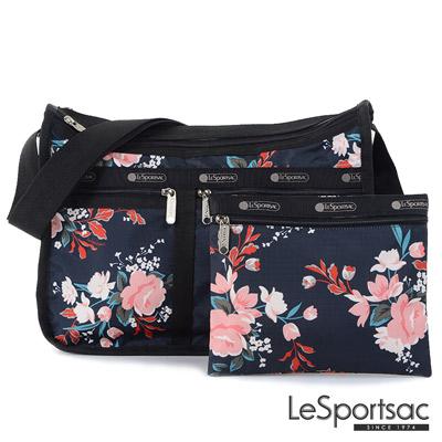 LeSportsac - Standard雙口袋A4大書包-附化妝包 (峽谷玫瑰)