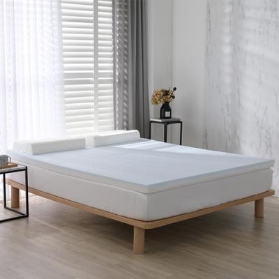 House Door 好適家居 天然防蚊防螨白色表布 藍晶靈涼感舒壓記憶床墊6cm贈枕-雙大6尺