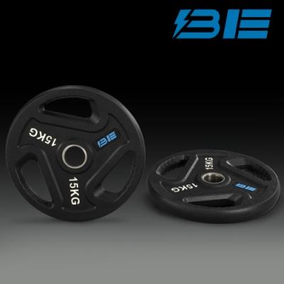 【BH】BE-O15-15KG奧林匹克包膠槓片-二入組