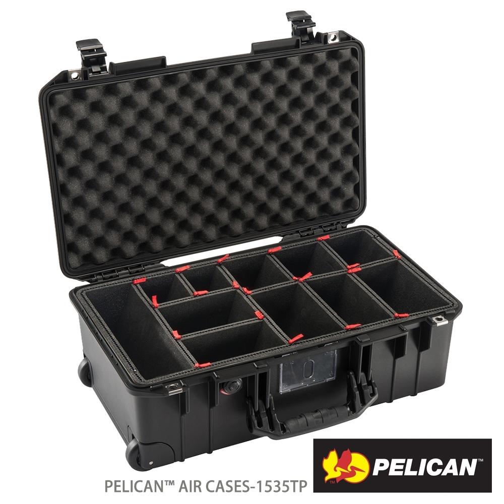 美國 PELICAN 1535AirTP 輪座拉桿超輕氣密箱-含TrekPak 隔板(黑)