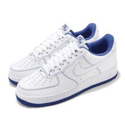 Nike 休閒鞋 Air Force 1 07 運動 男鞋 經典款 舒適 避震 球鞋 穿搭 簡約 白 藍 CV1724101