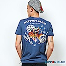 日本藍 BLUE WAY 青蛙與金魚趣味印花口袋TEE(藍)