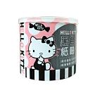 Hello Kitty 凱蒂貓 黑色紙軸棉花棒 300支X4盒 環保紙軸桿 柔韌不易折斷