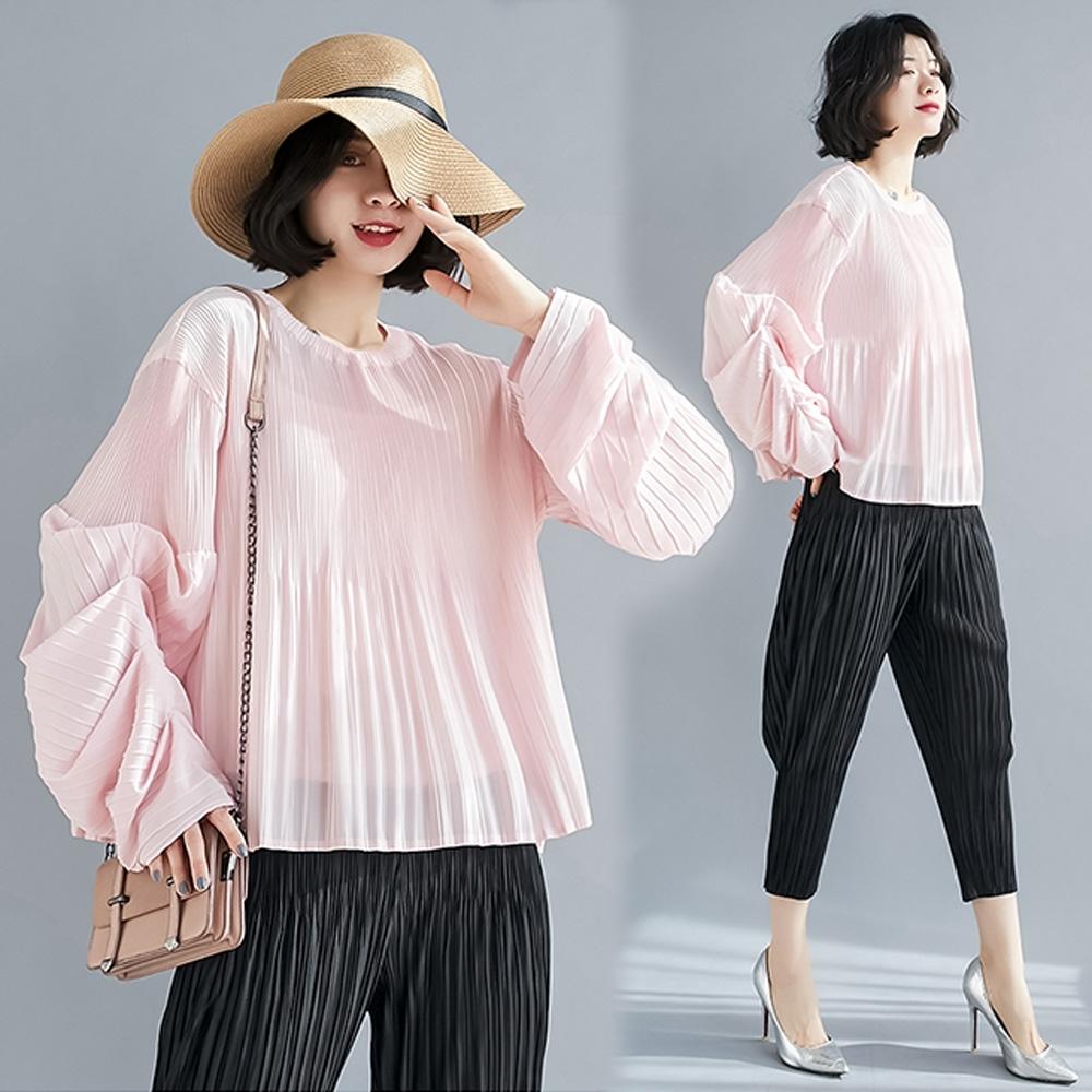 【KEITH-WILL】(預購)爆推款夏日氛圍壓褶衣(共3色) (粉色)