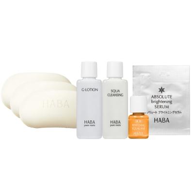 HABA 無添加主義 純淨絹泡石皂(80g)*3+任選體驗組