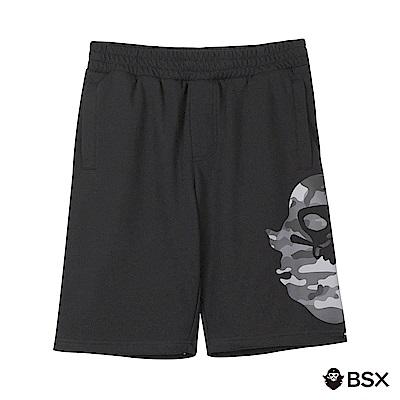 BSX 男裝VON品牌印花棉質短褲-04 黑色