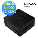 ECS 精英電腦  LIVA Z2V 雙核零分貝迷你電腦(N4000/4GB/32GWin10)