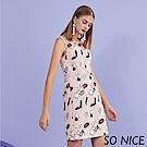 SO NICE俏麗塗鴉刺繡洋裝