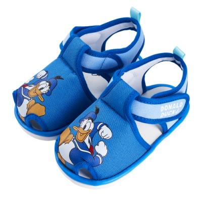 迪士尼童鞋 唐老鴨 經典造型護趾嗶嗶涼鞋-藍(柏睿鞋業)
