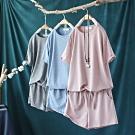 寬鬆時尚運動套裝顯瘦短袖T恤短褲兩件套-設計所在