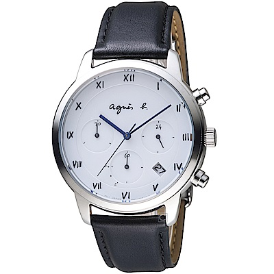 agnes b.法式簡約太陽能腕錶(BZ5001P1)-41mm