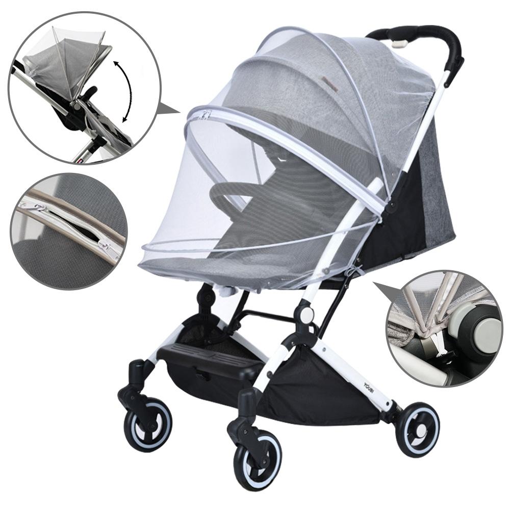 colorland 嬰兒推車蚊帳 全罩式加大加密拉鍊嬰兒車蚊帳