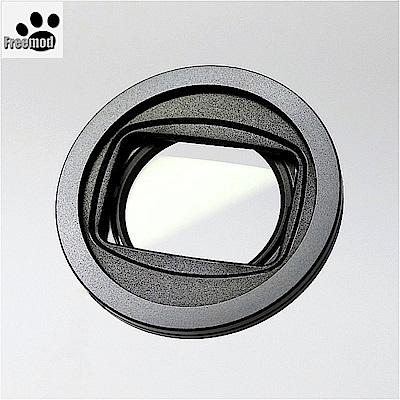 台灣製造Freemod半自動蓋X-CAP2含STC保護鏡的43mm鏡頭蓋Black黑色