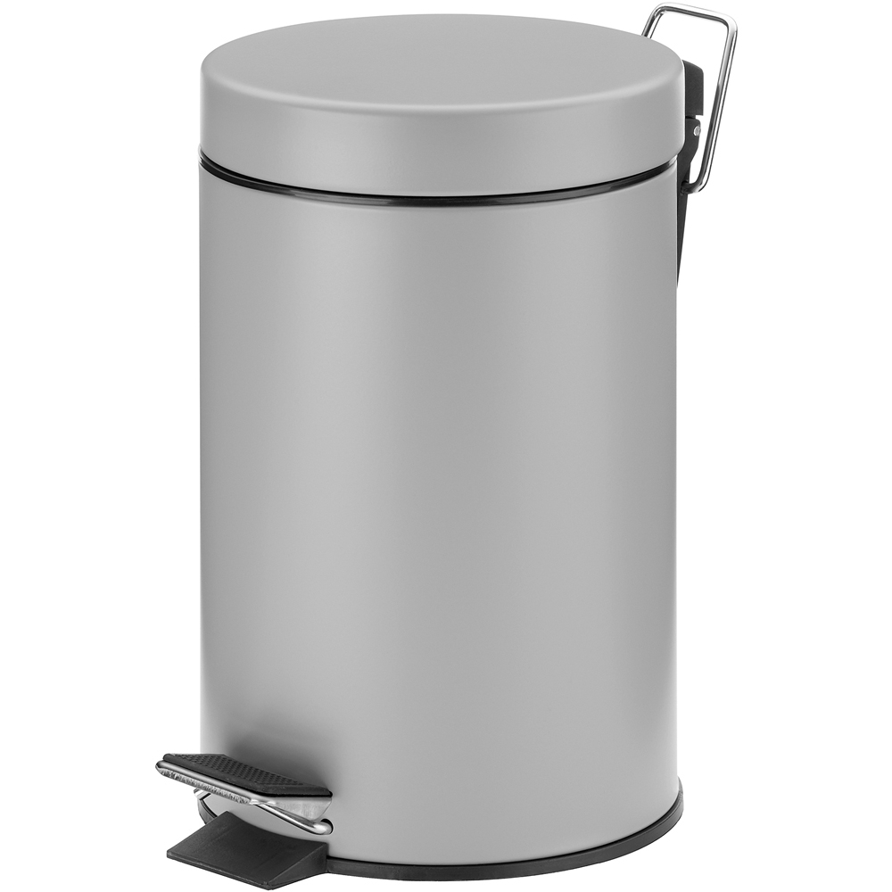 《KELA》簡約腳踏式垃圾桶(灰3L)
