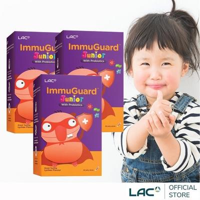 【LAC利維喜】買2送1 兒童益護力果凍30包-荔枝口味(維生素C+E/鋅/葡萄籽)