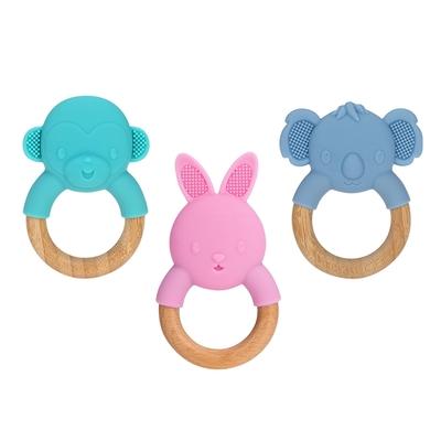 NUBY 造型櫸木固齒器(猴子/兔子/無尾熊)
