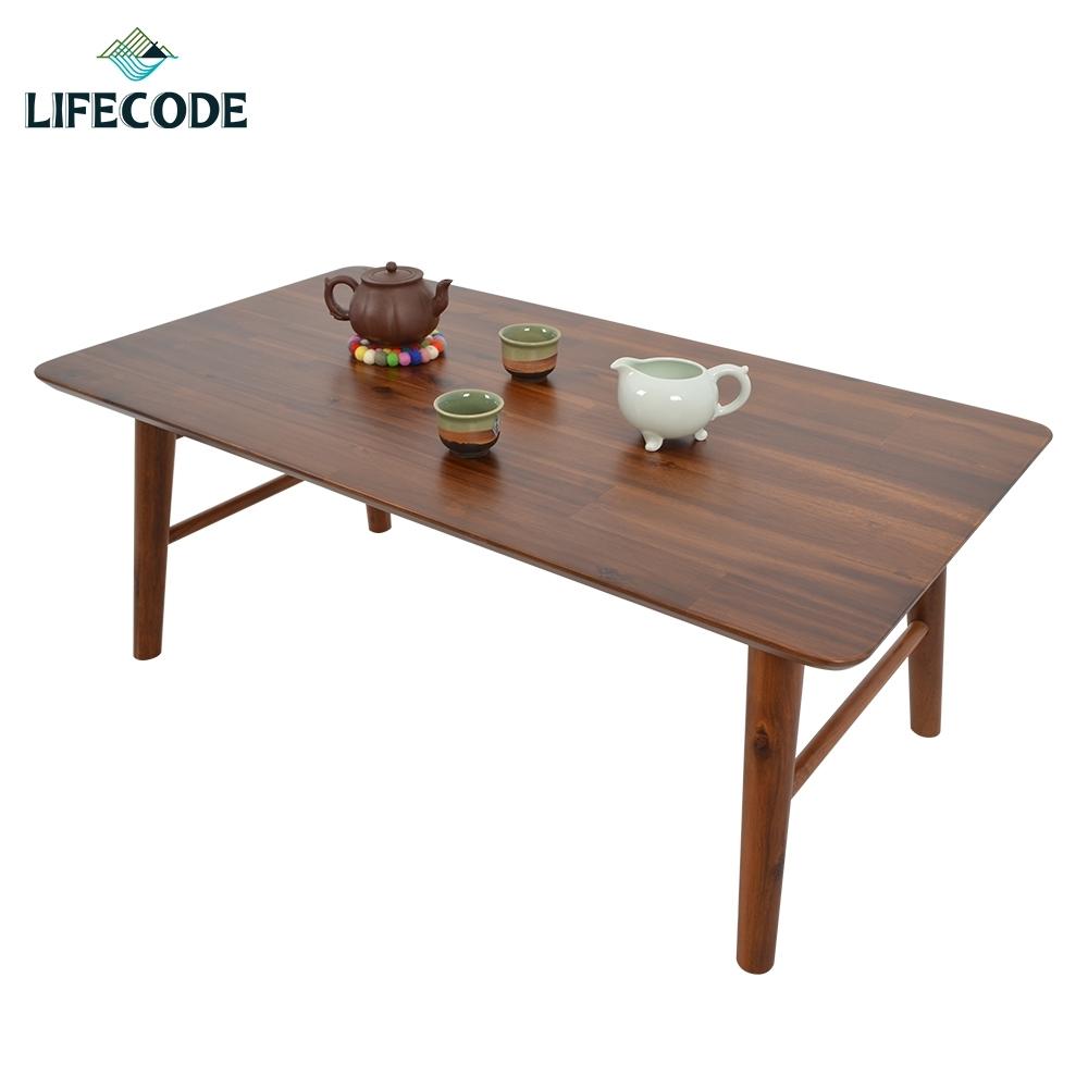 LIFECODE 相思木實木折疊桌90x50x35cm