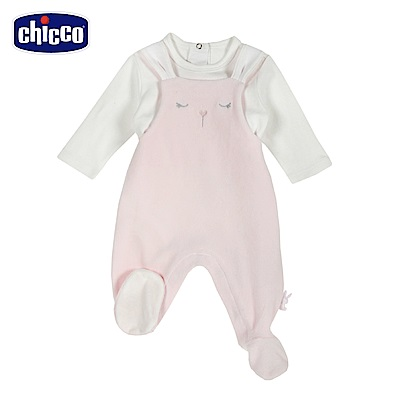 chicco-糖果兔系列-造型連腳背心褲套裝-粉(3-12個月)